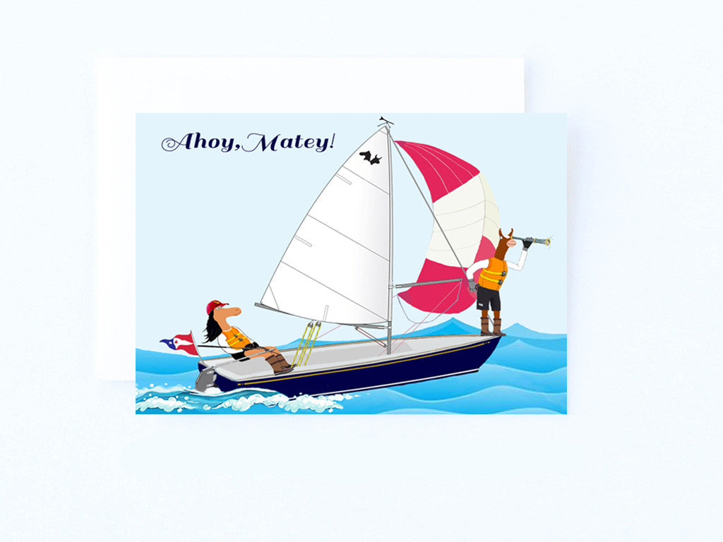 Ahoy Matey Sailing Card