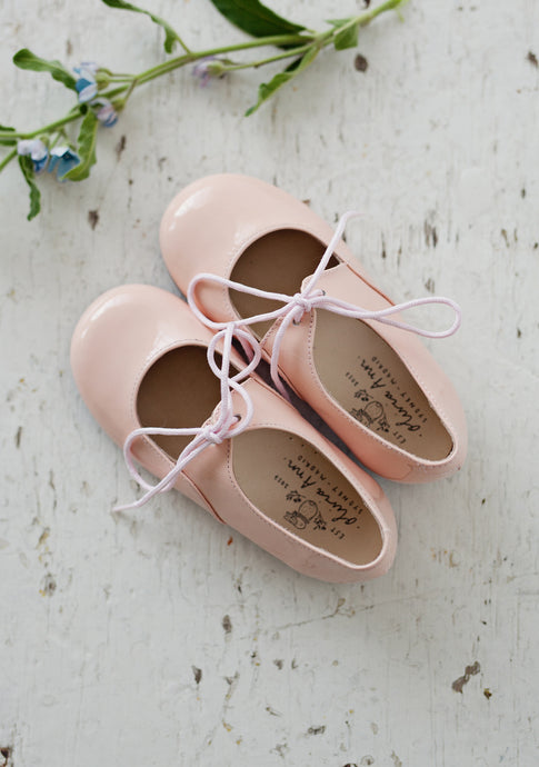 OLIVIA ANN Mary Jane Patent Shoes-  Blush Pink