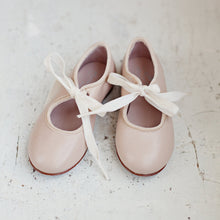 The most beautiful Mary Jane shoe design! Handmade with the highest quality leather in a lovely neutral stone colour and velvet details. shoes girl