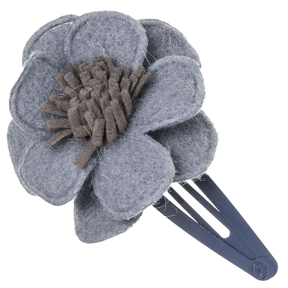 Beautiful hair clip with a delicate felt flower, a unique handmade piece! Wholesale Olivia Ann Kids