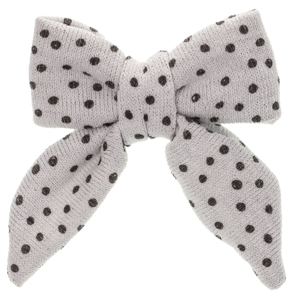 Beautiful Large Polka Dot fabric hair bow , a unique handmade piece! Olivia Ann wholesale.