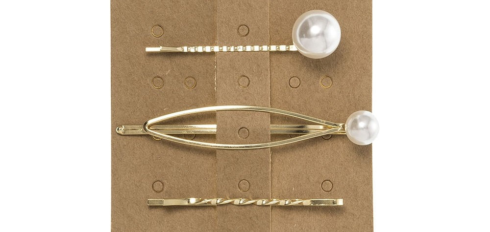Pack of 3 Hairpins with faux pearls. This trending Pearl Hairpin is the perfect accessory to elevate any outfit!