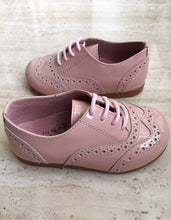 "Brogue Patent Leather ""Chloe"" Shoes- Pink"
