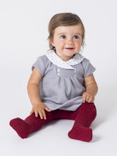 Baby dress - Grey with White Collar