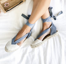 Flat Leather Espadrilles