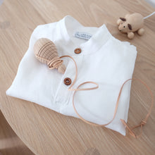 GUILLE SHIRT - White Linen (Size 4-5 & 6-7 , 60% OFF!)