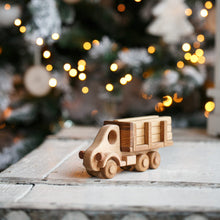 Logging truck - It's great when a toy can interact with surrounding objects. In the trailer of this truck you can transport different things, in this case wooden logs. Wooden toys. Building toys.Heirloom toys.