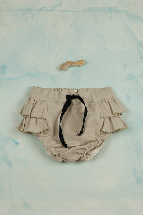 Beige Bloomers with Frills