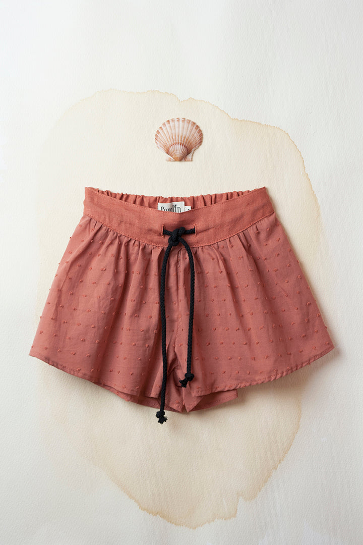 Terracotta High-Waisted Trouser-Skirt