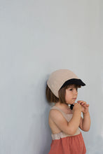 Reversible Beige Peaked Bonnet (SALE 50% OFF)