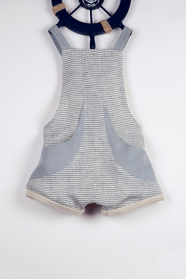 Blue Fisherman's Short Romper ( SALE 50% OFF)