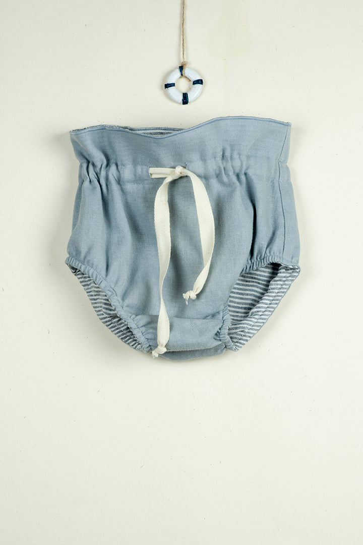 Reversible Bloomers - Blue and Sailor Stripes