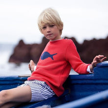 Classic shorts made from amazing cotton  fabric with navy and white stripes. Fully lined.