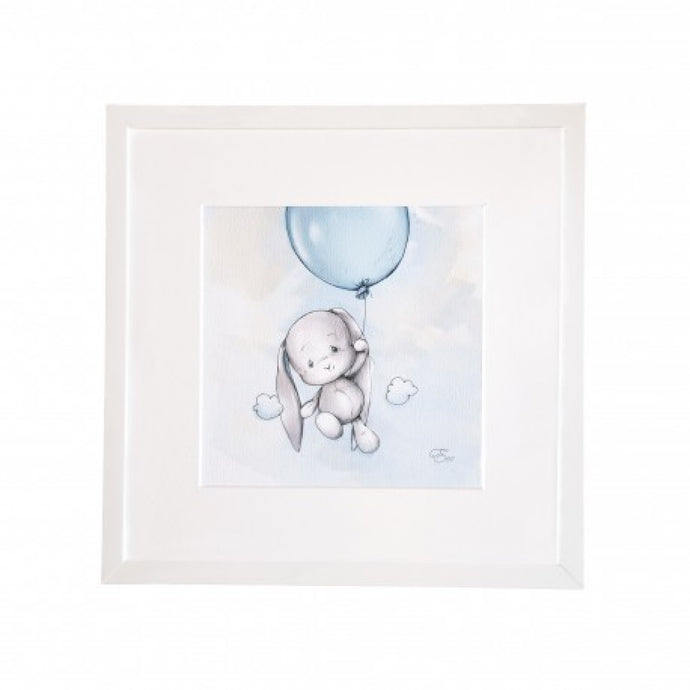 Art Frame- Bunny balloon in blue