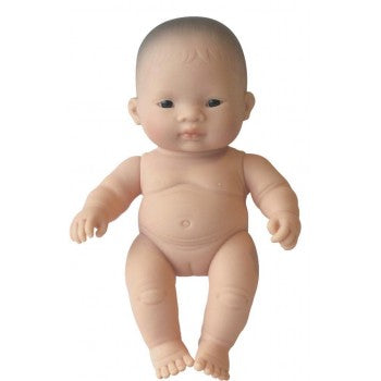 Miniland Doll - Asian Baby Girl , 21 cm (UNDRESSED)
