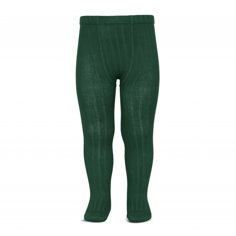 A must have classic pair of Condor tights in a lovely Bottle Green colour.  Details: ribbed knit. Elastic waistband with top stitched seams on the crotch. Super flat seams on heels and toes. Excellent quality!