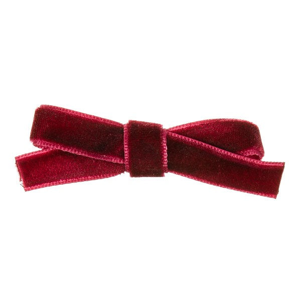Burgundy Velvet small bow