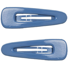 Basic Snap Hair Clip Puffy Painted- ROYAL BLUE (Pack of 2)