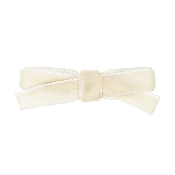 Cream Velvet  small bow