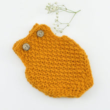 Doll Knitted ROMPER GREY - MUSTARD ( Fits 34 - 40 cm dolls / 13-15 inch)