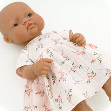 Make your little one's day with this divine doll's floral muslin dress today. Our dolls clothing is super adorable and of amazing quality, will absolutely melt your heart. Doll dress miniland, minikane, paola reina clothes. Olivia Ann doll clothes
