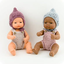 Doll Crochet Pixie BONNET Lavender - Medium ( Fits 30-34 cm dolls / 11-13 inch)