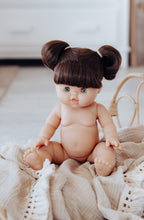 Paola Reina Gordis - Brunette Pigtails Blue Eyes Girl 34 cm - DAISY (UNDRESSED)
