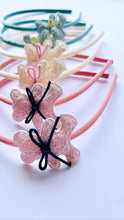 Knitted Teddy Bear Hairband -  Pink