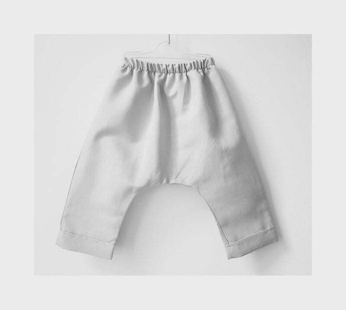 Luxe Harem Pants- Natural White Linen (Size 1, 2-3 - 50% OFF!)