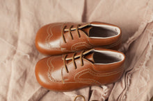 "OLIVIA ANN ""Derby"" Brogue Boots - Tan"