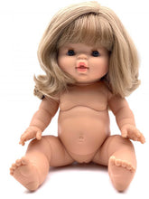This gorgeous newborn baby doll without clothes from Paola Reina is a really great childrens gift! The dolls have a slight vanilla aroma. Blonde girl 34 cm Penelope. Olivia Ann kids