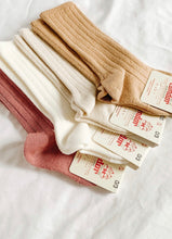 CONDOR Ribbed Knee High Socks - BEIGE (303)
