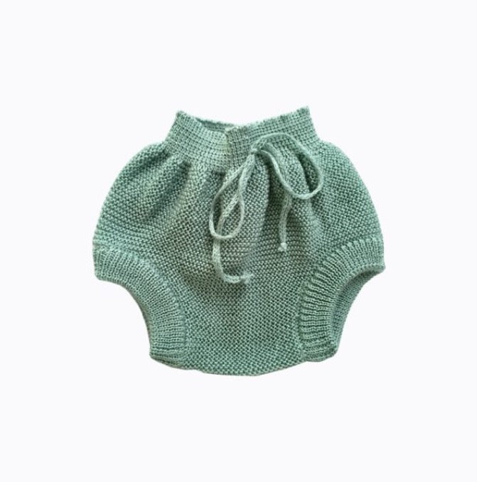 Knitted Bloomers in Green
