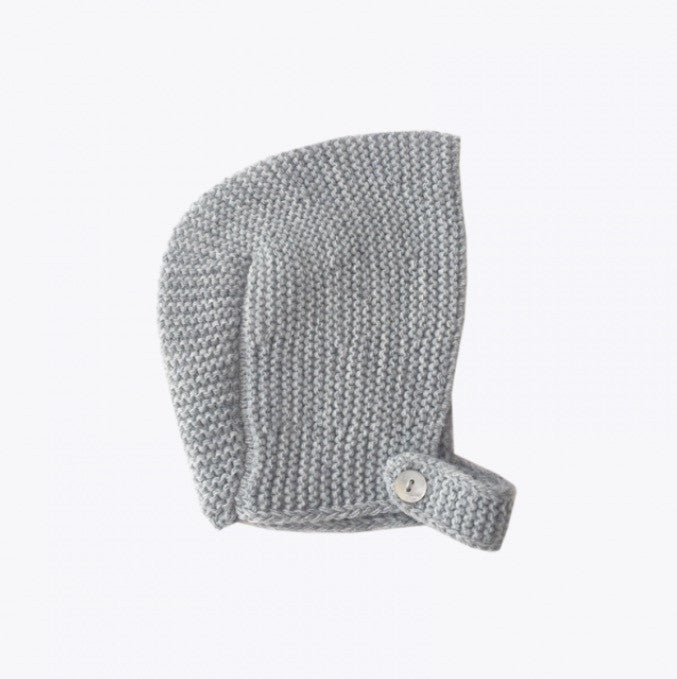 Knitted Bonnet in Grey