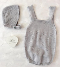 Knitted Perle Romper in Grey