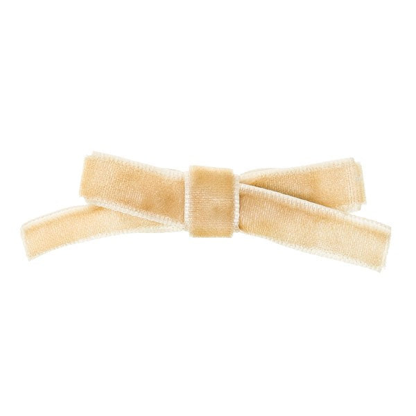 Beige Velvet Small bow
