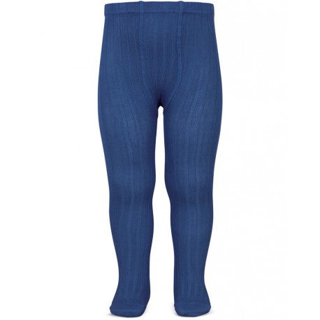 Royal Blue Ribbed Tights.