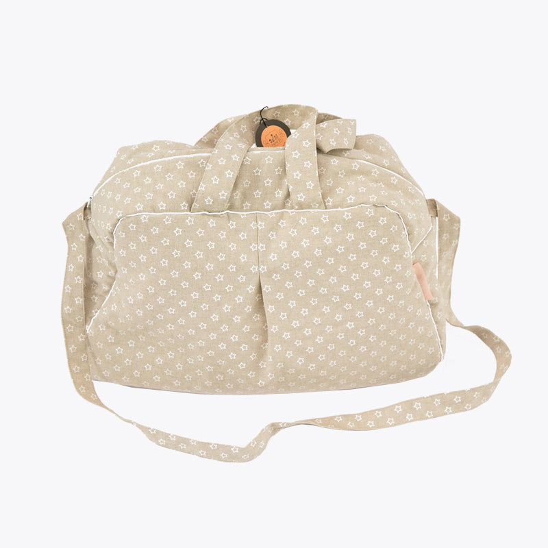 Maternity Bag - Beige with White stars
