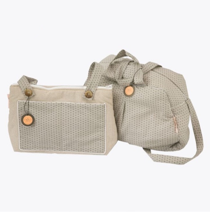 Maternity Bag - Grey with Stars