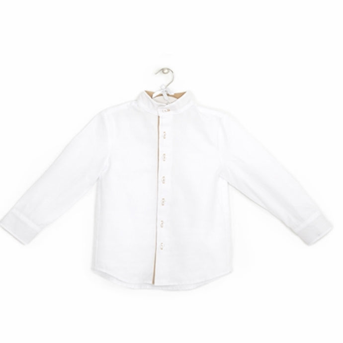 White shirt with elbow patches