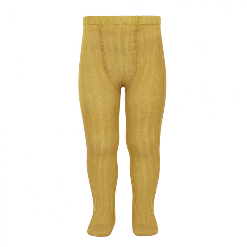 A must have classic pair of Condor tights in a lovely Mustard / Curry colour.  Details: ribbed knit.