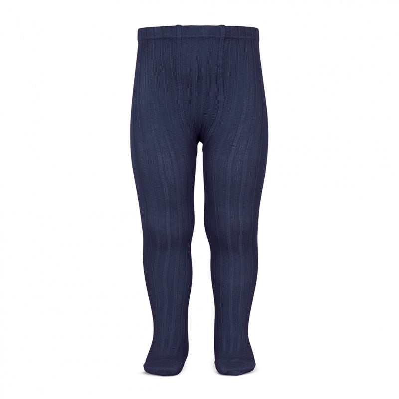 A must have classic pair of Condor tights in Navy colour.  Details: ribbed knit. Blue