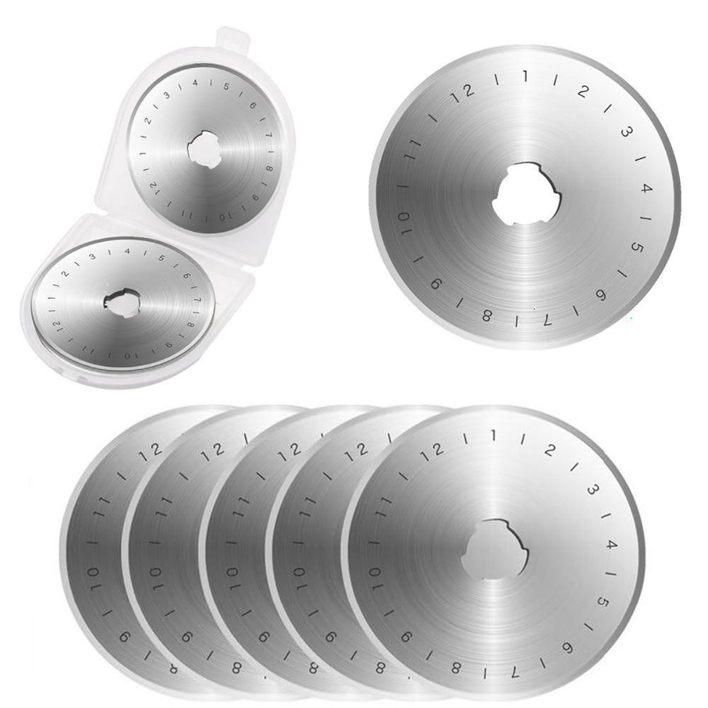 CraftsCapitol™ Premium 45MM PRECISION ROTARY BLADES [PACK 10] + FREE ROTARY CUTTER