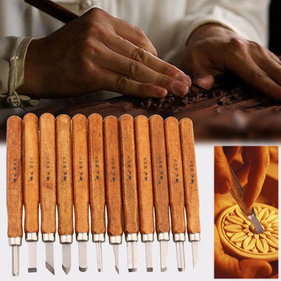 Unparalleled 12pcs Wood Carving Tool Set