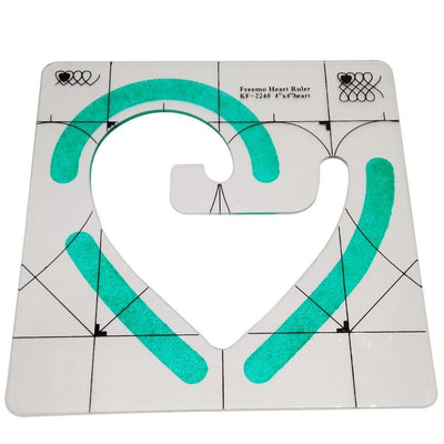 CraftsCapitol™ Premium Heart Shaped Quilting Template