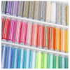 CraftsCapitol™ 39 Spools Rainbow Polyester Sewing Thread Box Kit