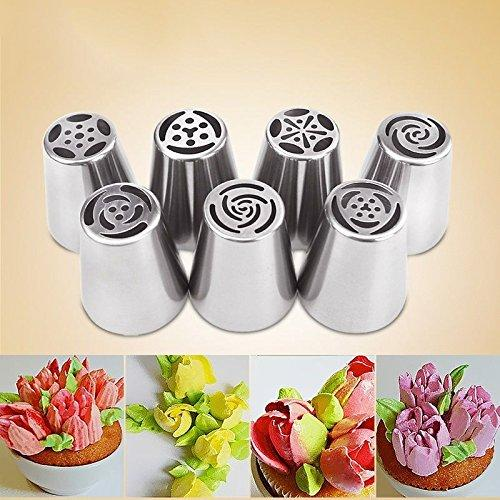 CraftsCapitol™ Premium Russian Tulip Piping Tips [7PCS Set]