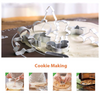 CraftsCapitol™ Premium 3D Christmas Cookie Molds (Free Christmas Cookie Rolling Pin)