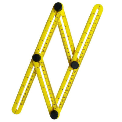 CraftsCapitol™ Premium Multi-Angle Flexible Measuring Ruler