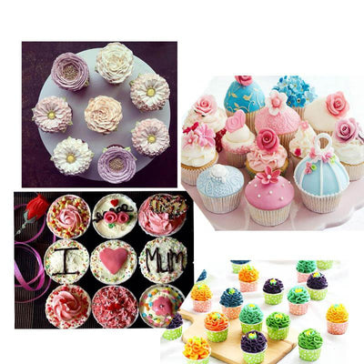 CraftsCapitol™ Premium Russian Piping Tips Flower Nozzles Decorating Set